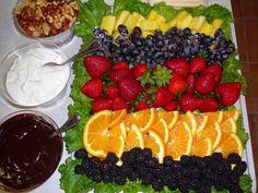 Easy Fruit Tray Ideas | Fruit Platter and Dips