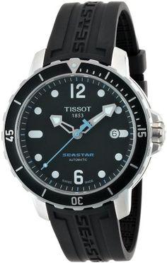 Tissot Men's T0664071705700 Seastar 1000 Black Dial and Strap Watch Tissot,http://www.amazon.com/dp/B0051DA9B6/ref=cm_sw_r_pi_dp_B3Altb0BTX94YT54