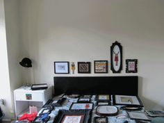 Frame Collage Faux Headboard . How To-sday - Shrimp Salad Circus