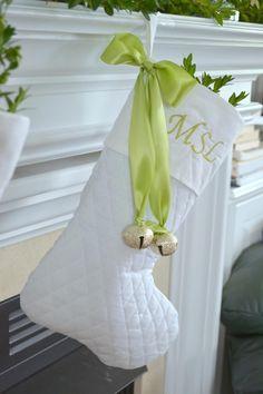 White Christmas stocking in Holidays