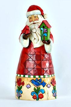 Jim Shore for Enesco Heartwood Creek Santa with Birdhouse Figurine, Jim Shore Christmas, Christmas Home, Father Christmas, Christmas Decor, Birdhouse Designs, Santa Figurines, Precious Moments Figurines, Christmas Wonderland, Personalized Christmas Ornaments