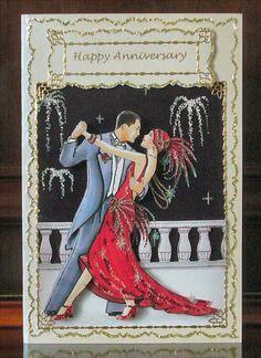 Art Deco Anniversary Card by: starlite