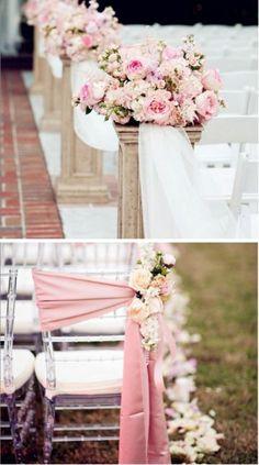 La #decoración de tu ceremonia lucirá increíble en tonos rosas. #Iglesia #Church #Wedding