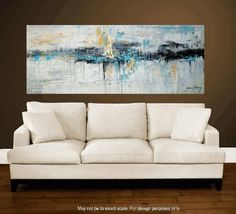 "Art Painting 72"" x 30 HUGE   abstract  painting Acrylic painting Wall Decor wall hanging from   Jolina Anthony"""