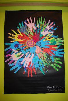 """Ecole """"Les Etangs"""" de Rosenau - Oeuvre collective des CM1/CM2 Pixel Art, Nail Polish Art, Global Design, Art Plastique, Oeuvre D'art, Les Oeuvres, Cool Style, Animation, Creative"""