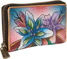Anuschka Credit and Business Card Holder Luscious Lilies Denim - via eBags.com!