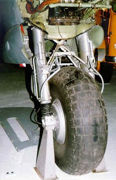 A view of the RAF de Haviland Mosquito bomber main undercarriage unit reveals even more elements of the structure.  Threaded tires as one shown were common for all marks of the Mosquito.