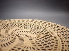 Crochet Doily Handmade Cotton Lace Table by FluffyFuzzypatterns