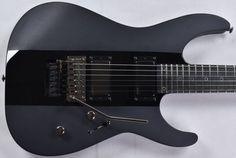 ESP LTD Deluxe M-1000 Electric Guitar Black Stripe Esp Guitars, Rock Sound, Floyd Rose, Studio Gear, Guitar For Beginners, Black Rings, Dark Side, Black Stripes, Colorful Backgrounds