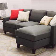 Love this cute like corner unit!  So affordable!  Charcoal Abbott Sofa | World Market
