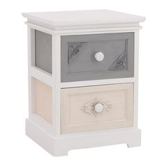 WOODEN DRAWER IN WHITE-GREY-BEIGE COLOR 30X29X40 - Drawers - Consoles - FURNITURE