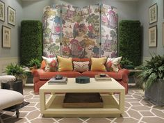 Furniture Lilly Pulitzer Home Decor For Stunning Designs With Sofa And Wooden Tables And Decorative Plants Around The Room Lilly Pulitzer Home Decor Ideas