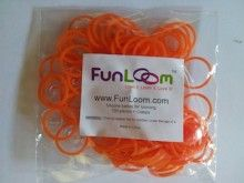 Orange FunLoom Rubber Bands