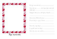 Nezapomeň doplnit E ve slově se - špatně zvolený font Valentines, Chart, Suitcase, Valentines Diy, Valentine Craft, Valentine's Day