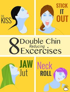 Simple exercises to do to help get rid of that double chin.
