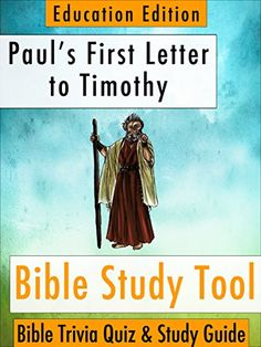 "Paul's First Letter to Timothy: Bible Trivia Quiz & Study Guide - Education Edition (BibleEye Bible Trivia Quizzes & Study Guides - Education Edition Book 15) by BibleEye http://www.amazon.com/dp/B00O8YM1SI/ref=cm_sw_r_pi_dp_bLm.vb14DRF2Q - Here's How it Works: Read a chapter of the Bible, then answer study quiz questions (followed on the very next page with the answers) on what you've just read...  ""After I read one chapter and made it to the questions, I realized that I had just been…"