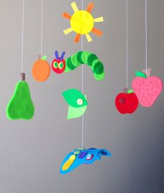 The Very Hungry Caterpillar Baby Mobile by LoveFelt Creations