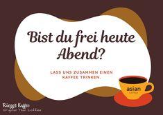 Genießen Sie den Abend mit Freunden, Familie und Kaffee! www.rueeggs.com #saturdayevening #saturdayvibes #positivemood #coffeetime #coffeearoma #coffeelovers #coffeeart #coffee #arabica Arabica, Thailand, Company Logo, Logos, Drinking Coffee, Pictures, Logo