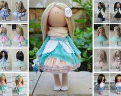 Textile doll Bambole Soft doll Puppen от AnnKirillartPlace на Etsy