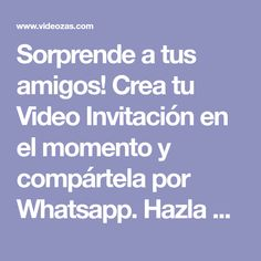 Create your Invitation Video at the moment and share it by Whatsapp. Make it Online Now! Baby Shawer, Birthday Invitations Kids, Online Invitations, Ideas Para Fiestas, Kids Videos, Invite Your Friends, Child Models, Create Yourself, Projects To Try