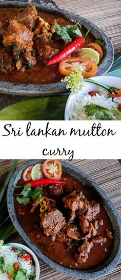 Cooked with everyday Sri Lankan spices, this Mutton curry has a thick gravy bringing about extra depth and color, the Mutton is cooked until tender and flavored perfectly.