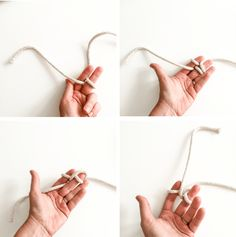 DIY Finger Knit Rope Trivet Tutorial