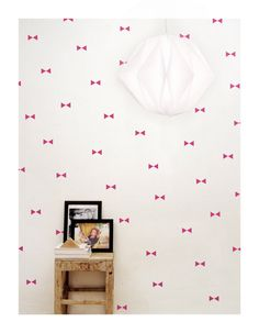 Neon pink triangle wall decals, wall stickers, wall decor