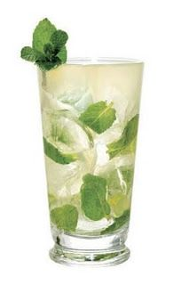 Mojito...refreshing for any time of the day.  Rum + Mint Leaves + Lime Juice + Simple Syrup + Club Soda