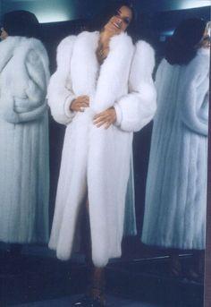 white mink & fox fur coat