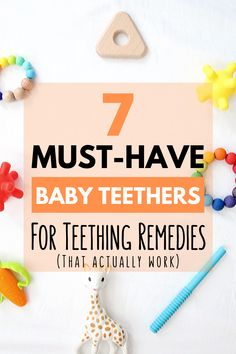 Is your baby cutting teeth? Are they chewing on everything in sight? If you are looking for remedies and relief for your teething baby check out this list of the 7 best baby teethers and teething toys! Newborn Baby Tips, Newborn Care, Baby Teething Remedies, Teething Relief, Baby Life Hacks, Mom Hacks, Best Teething Toys, Breastfeeding And Pumping, Baby Teethers