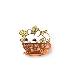 This unique enamel pin is a great way to accessorize anything, such as bags, apparel, lanyards and more! This adorable design would be a great addition to your Teacup Cats, Kawaii Gifts, Finger Plays, Scroll Design, Enamel Paint, Hard Enamel Pin, Cool Pins, Metal Pins, Pin And Patches