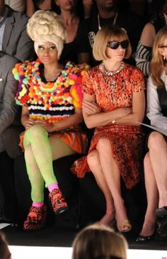 If I were dressed like Nicki and sitting next to ANNA WINTOUR I would feel SHAMED. :|  she's still a GREAT rapper