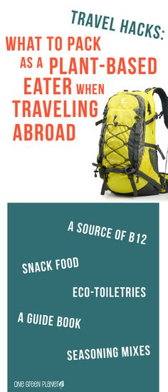 What to pack as a plant-based eater when traveling abroad