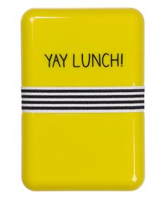 Look at this 'Yay Lunch!' Lunch Box on #zulily today!