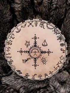 Vikings, Scandinavian Tattoo, Lappland, Indigenous Art, Native American Art, Pictures To Paint, Occult, Rock Art, Unique Art