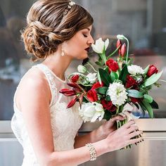 Beautiful shot from the Love & Lace shoot by @luxeventrental |  Photographer: @amy.sturgeon  Dress: @withlovebridal  Make-up: @facesbysab  Hair: @yaraismail88  #ottawawedding #ottawaflorist #orangerieottawa