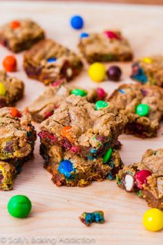Brown Butter Pretzel M&M Blondies