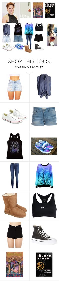 """""""Hazel Grace Lancaster - Almas Gêmeas"""" by trislessa ❤ liked on Polyvore featuring NIC+ZOE, Converse, Pieces, 7 For All Mankind, UGG Australia and NIKE"""