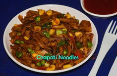 Chapati Noodles / சப்பாத்தி நூடுல்ஸ் is a tasty and healthy dish that is created using the leftover chapathi. Chapati Noodles can be prepared in minutes, also I have induced mixed vegetables which … Lunch Box Recipes, Leftovers Recipes, Veg Recipes, Indian Food Recipes, Asian Recipes, Breakfast Recipes, Vegetarian Recipes, Dinner Recipes, Cooking Recipes