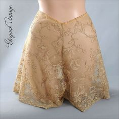 Vintage 1920's Entirely Lace Tap Pants Panties