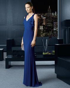 Vestidos de fiesta Rosa Clara 2015 vestido largo azul
