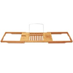 @11Main Bamboo Bathtub Caddy with Extending Sides by ToiletTree Products: Finally, you are able to relax in the comfort of your...