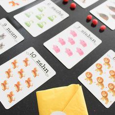"""My Fun Box on Instagram: """"🔢 Zahlenkarten von My Fun Box🔢  Es gibt unendlich viele Varianten wie man den Kindern die Zahlenwelt näher bringen kann☺️ Hier ein ganz…"""" Playing Cards, Games, Box, Instagram, Infinity, Studying, Children, Snare Drum, Gaming"""