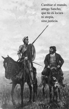 """""""Cambiar el mundo, amigo Sancho, que no es locura ni utopía, sino justicia."""" -   El ingenioso hidalgo Don Quijote de la Mancha / compuesto por Miguel de Cervantes Saavedra ; edición anotada por Nicolás Díaz de Benjumea e ilustrada por Ricardo Balaca ; [y J. Luis Pellicer]. - Barcelona : Montaner y Simón, 1880-1883  http://www.flickr.com/photos/fdctsevilla/sets/72157621680948425/"""