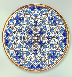 Plate 28 cms. Blue Collection.
