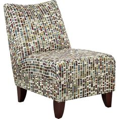 With its colorful geometric upholstery and classic slipper design, this bold accent chair instantly livens up any space. Set it in the den to add pizzazz to ...
