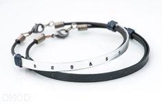 Personalized Bracelet Stamped Bracelet Unisex Bracelet by Omod