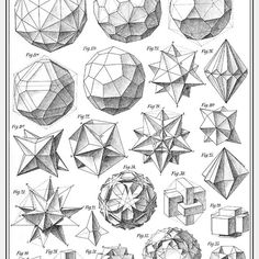 Beading_ Use for Beaded Beads __ Geometry___ Max Bruckner 1906 polyhedra & icosahedron models Doodle Drawing, Sacred Geometry Symbols, How To Draw Sacred Geometry, Platonic Solid, Geometric Drawing, Math Art, Geometric Designs, Geometric Artists, 3d Geometric Shapes