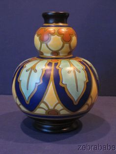 "I would start a collection of this Vintage Gouda Regina Vase 8 1/4"" Art Deco"