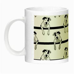 Pit Bull Glow in the Dark Mug Night Luminous Mug Our Night Luminous mugs not only look like regular colorful mugs in daylight, but also make it very easy to see the imprinted images even at night. Large handle for easy grasping. Printing is very great. Handwash only #glow #custom #luminous.